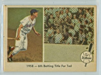 1959 Fleer Ted Williams 62 6th Batting Title Excellent to Mint