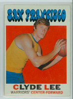 1971 Topps Basketball 12 Clyde Lee San Francisco Warriors Excellent to Mint