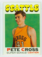 1971 Topps Basketball 33 Pete Cross Seattle Super Sonics Excellent to Mint