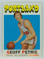 1971 Topps Basketball 34 Geoff Petrie ROOKIE Portland Trail Blazers Excellent to Mint
