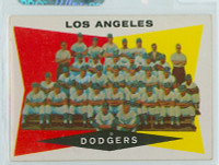 1960 Topps Baseball 18 Dodgers Team Excellent to Mint