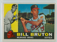1960 Topps Baseball 37 Bill Bruton Milwaukee Braves Excellent to Mint