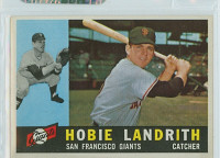1960 Topps Baseball 42 Hobie Landrith San Francisco Giants Excellent to Mint
