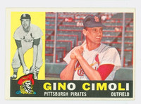 1960 Topps Baseball 58 Gino Cimoli Pittsburgh Pirates Excellent to Excellent Plus
