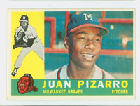 1960 Topps Baseball 59 Juan Pizarro Milwaukee Braves Excellent to Excellent Plus