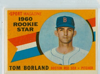1960 Topps Baseball 117 Tom Borland Boston Red Sox Excellent to Mint