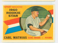 1960 Topps Baseball 139 Carl Mathias Cleveland Indians Excellent