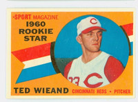 1960 Topps Baseball 146 Ted Wieand Cincinnati Reds Excellent to Excellent Plus