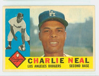 1960 Topps Baseball 155 Charlie Neal Los Angeles Dodgers Excellent