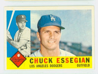 1960 Topps Baseball 166 Chuck Essegian Los Angeles Dodgers Excellent
