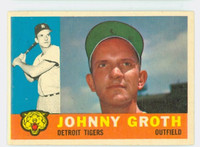 1960 Topps Baseball 171 Johnny Groth Detroit Tigers Excellent