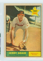 1961 Topps Baseball 71 Jerry Adair Baltimore Orioles Excellent to Mint