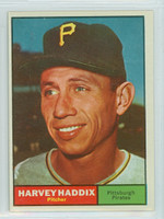 1961 Topps Baseball 100 Harvey Haddix Pittsburgh Pirates Excellent to Mint