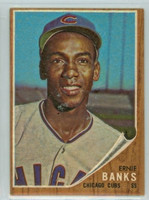 1962 Topps Baseball 25 Ernie Banks Chicago Cubs Excellent to Excellent Plus