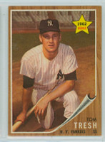 1962 Topps Baseball 31 Tom Tresh ROOKIE New York Yankees Excellent to Excellent Plus