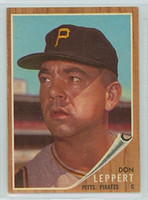 1962 Topps Baseball 36 Don Leppert Pittsburgh Pirates Excellent to Excellent Plus