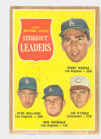 1962 Topps Baseball 60 NL Strikeout Ldrs Good to Very Good