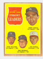 1962 Topps Baseball 60 NL Strikeout Ldrs Very Good to Excellent