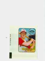 1969 Topps Decals 16 Tommy Helms Cincinnati Reds Near-Mint