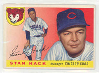 1955 Topps Baseball 6 Stan Hack Chicago Cubs Excellent
