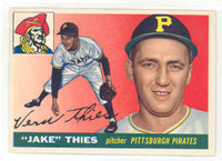 1955 Topps Baseball 12 Jake Thies Pittsburgh Pirates Excellent to Excellent Plus
