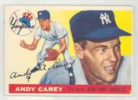 1955 Topps Baseball 20 Andy Carey New York Yankees Excellent to Excellent Plus