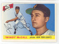 1955 Topps Baseball 42 Windy McCall New York Giants Excellent