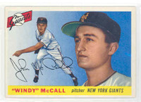 1955 Topps Baseball 42 Windy McCall New York Giants Excellent to Excellent Plus