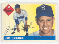1955 Topps Baseball 51 Jim Hughes Brooklyn Dodgers Excellent