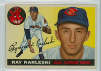 1955 Topps Baseball 160 Ray Narleski Semi High Number Cleveland Indians Good to Very Good