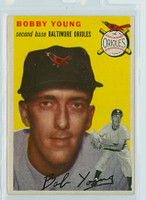 1954 Topps Baseball 8 Bobby Young Baltimore Orioles Excellent to Mint
