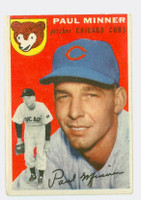 1954 Topps Baseball 28 Paul Minner Chicago Cubs Good to Very Good