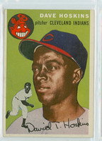 1954 Topps Baseball 81 Dave Hoskins Cleveland Indians Excellent to Mint