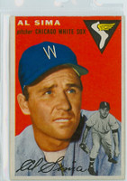 1954 Topps Baseball 216 Al Sima Chicago White Sox Very Good to Excellent