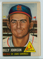 1953 Topps Baseball 21 Billy Johnson Single Print St. Louis Cardinals Good to Very Good