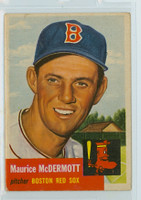1953 Topps Baseball 55 Maurice McDermott Boston Red Sox Very Good