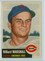 1953 Topps Baseball 95 Willard Marshall Cincinnati Reds Very Good to Excellent