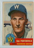 1953 Topps Baseball 108 Bob Porterfield Washington Senators Good to Very Good