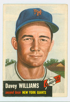 1953 Topps Baseball 120 Davey Williams Single Print New York Giants Very Good to Excellent
