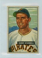 1951 Bowman Baseball 93 Danny O' Connell Pittsburgh Pirates Good to Very Good