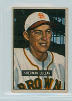 1951 Bowman Baseball 100 Sherman Lollar St. Louis Browns Good to Very Good