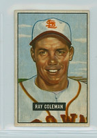 1951 Bowman Baseball 136 Ray Coleman St. Louis Browns Excellent