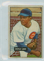 1951 Bowman Baseball 139 Doyle Lade Chicago Cubs Excellent