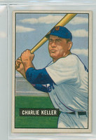 1951 Bowman Baseball 177 Charlie Keller Detroit Tigers Very Good to Excellent