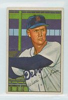 1952 Bowman Baseball 111 Hoot Evers Detroit Tigers Very Good to Excellent