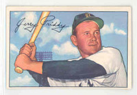 1952 Bowman Baseball 139 Jerry Priddy Detroit Tigers Excellent