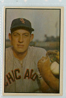 1953 Bowman Color Baseball 157 Sherm Lollar High Number Chicago White Sox Very Good to Excellent