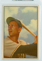 1953 Bowman Color Baseball 160 Cal Abrams High Number Pittsburgh Pirates Excellent to Mint