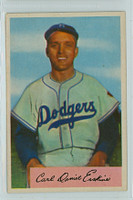 1954 Bowman Baseball 10 Carl Erskine Brooklyn Dodgers Excellent to Excellent Plus