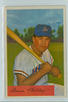 1954 Bowman Baseball 163 c Dave Philley TRD 157 GM  Kansas City Athletics Very Good to Excellent